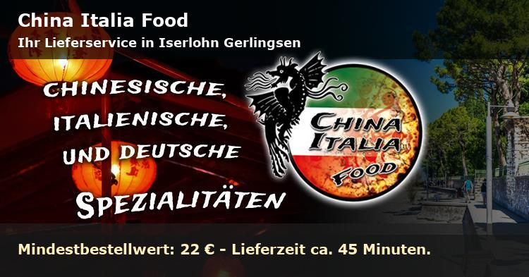 China Italia Food Lieferservice in Iserlohn Gerlingsen